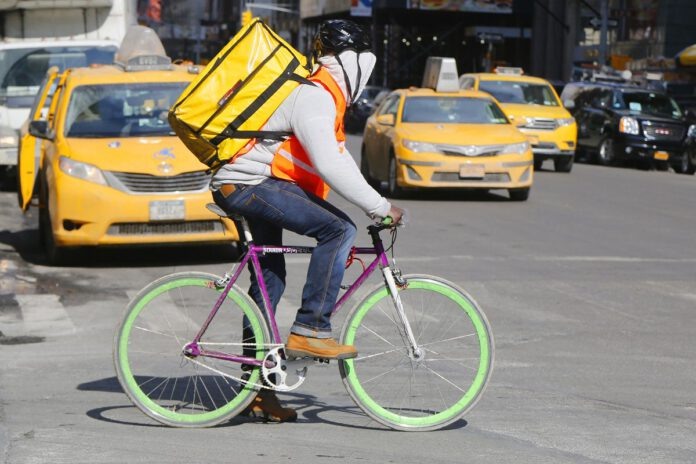 Biker in New York